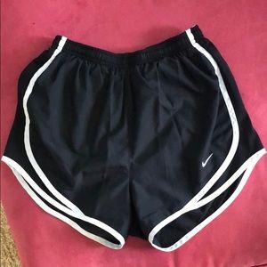 Black & White Nike Womens' Running Shorts